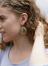 Big mixed metal earrings | Fair Anita