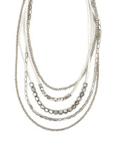 Multistrand fair trade necklace in silver | Fair Anita