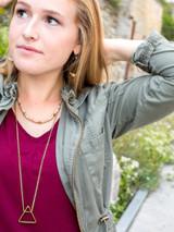Long fair trade triangle necklace | Fair Anita