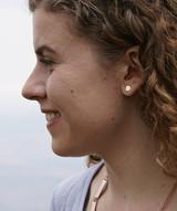 Small hexagon stud earrings | Fair Anita