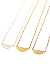 Feminist quote necklace in gold | Fair Anita