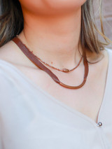 Upcycled artillery choker necklace in copper | Fair Anita