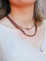 Short copper tube necklace | Fair Anita