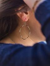 Tri-color recycled bullet casing earrings | Fair Anita