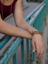 Leather and bullet casing snap bracelet | Fair Anita