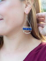 Blue Beaded dangle earrings | Fair Anita