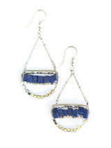 Blue Beaded dangle earrings | Fair Anita
