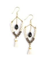 Black and white statement earrings   Fair Anita