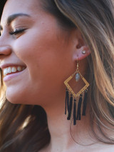 Black and chain statement earrings   Fair Anita