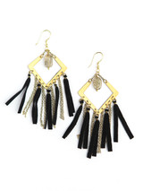 Black and chain statement earrings | Fair Anita