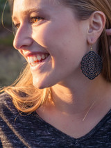 Big black fair trade earrings | Fair Anita