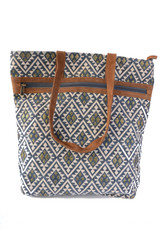navy and gold pattern tote | Fair Anita
