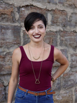 Short fair trade necklace in gold | Fair Anita