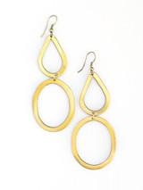 Bouldering Earrings - Brass