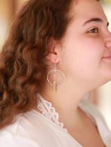 animal horn earrings silver   Fair Anita