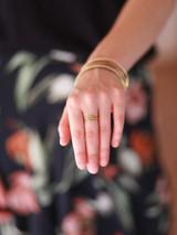 gold stacking ring set turquoise | Fair Anita