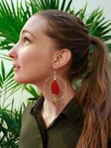 Fuchsia Feather Earrings | Fair Anita