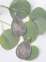silver drop shape earrings | Fair Anita