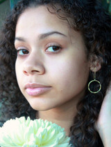 gold circle drop earrings | Fair Anita