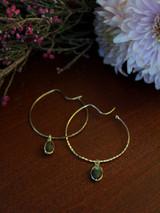 labradorite hoop earrings | Fair Anita