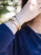 thin silver cuff bracelet | Fair Antia