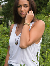 two tone recycled bullet casing bracelet | Fair Anita
