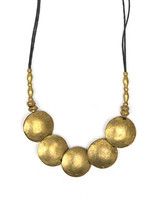 Artillery adjustable long brass artillery necklace | Fair Anita