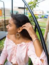 Artillery silver wrapped bead hoop earrings   Fair Anita