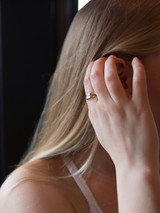 Delicate hammered ring in silver | Fair Anita