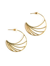 Crescent shaped statement hoops brass | Fair Anita