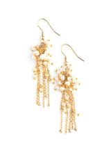 Pearl Cluster Dangle Earrings