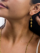 Floating Disk Artillery Earrings - Brass