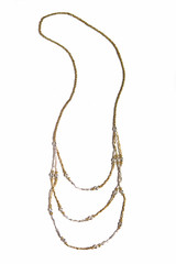 elegant mixed metal long necklace | Fair Anita