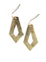 Cut Out Artillery Earrings - Brass
