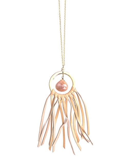 long pink tassel necklace | Fair Anita
