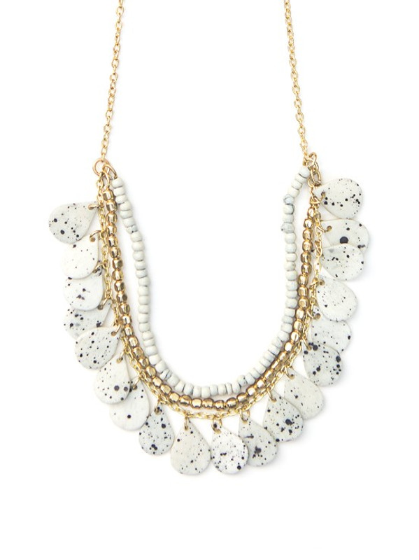 Speckled Bone Necklace