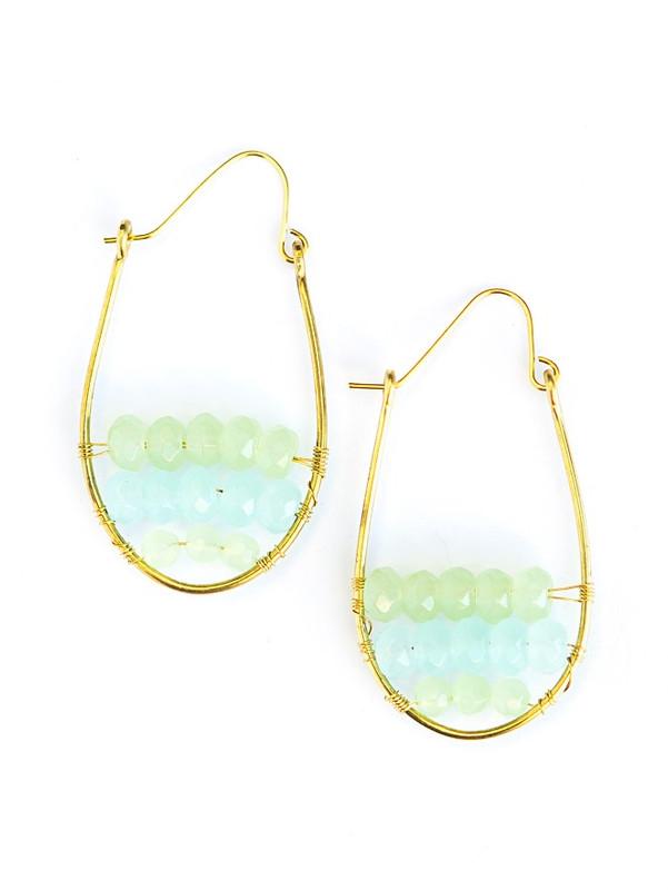 Vesique Waves Glass Hoop Earrings