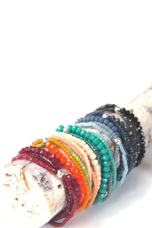Sparkle Glass Elastic Bracelet