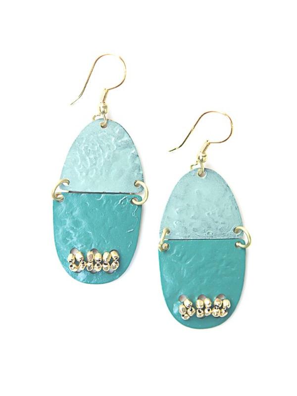 Parakeet Painted Earrings
