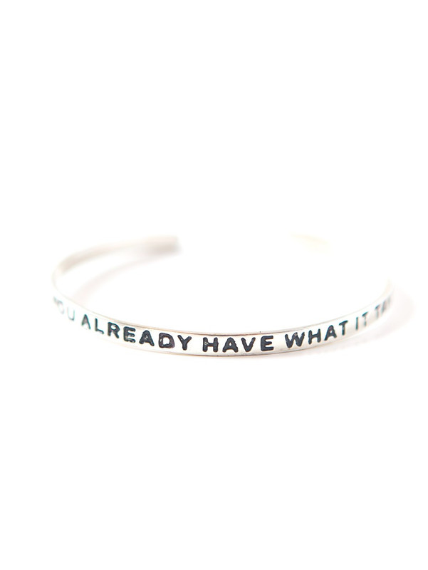 Have What It Takes Cuff - Silver