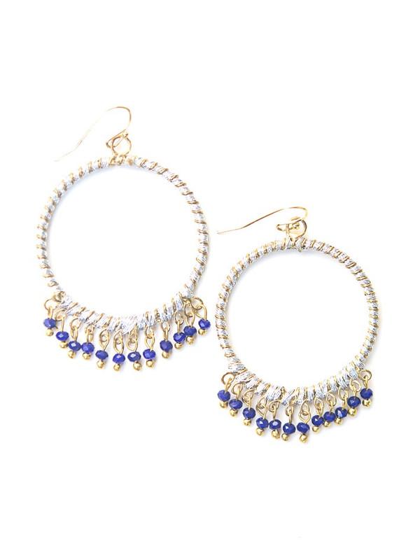 Two Tone Chandelier Earrings