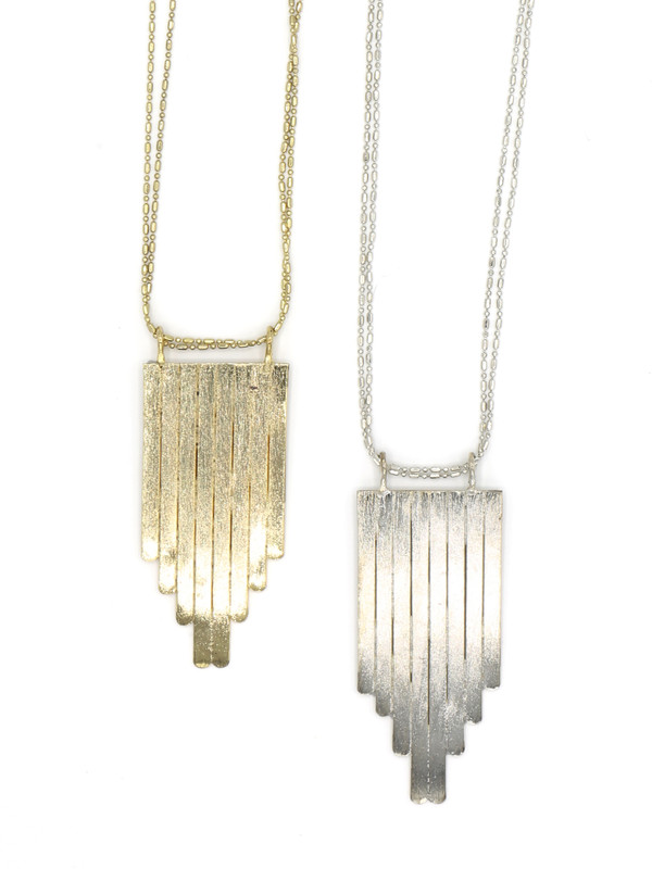 Picket Fence Pendant Necklace