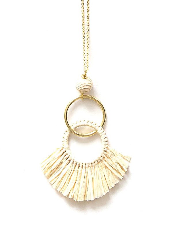 Raffia Fringe Necklace