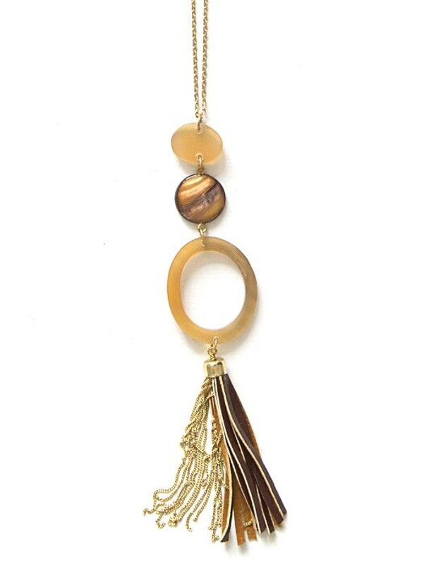 Outback Pendant Tassel Necklace