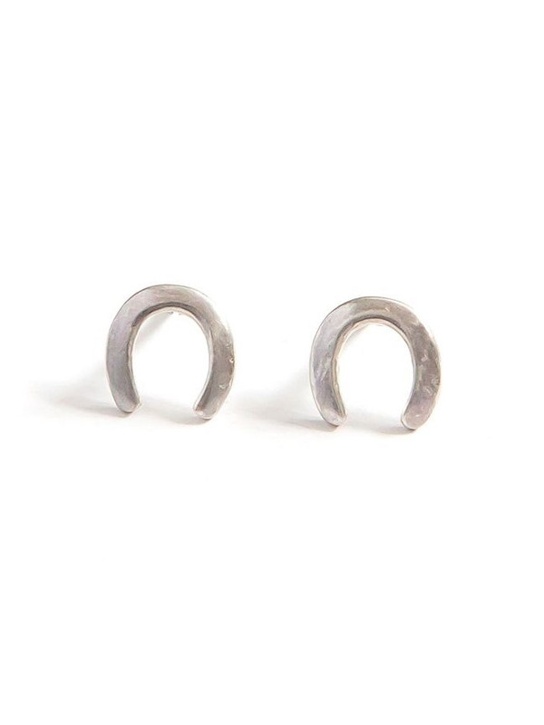 Waning Crescent Sterling Studs