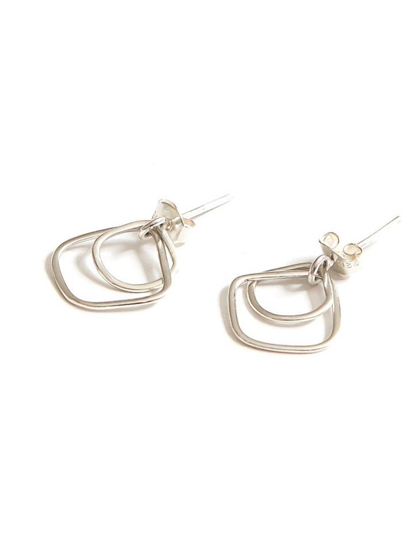 Hail Storm Sterling Stud Earrings