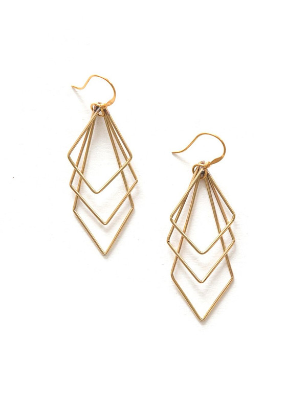 Prominent Paragon Earrings - Brass