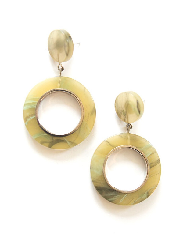Thicket Resin Loop Earrings