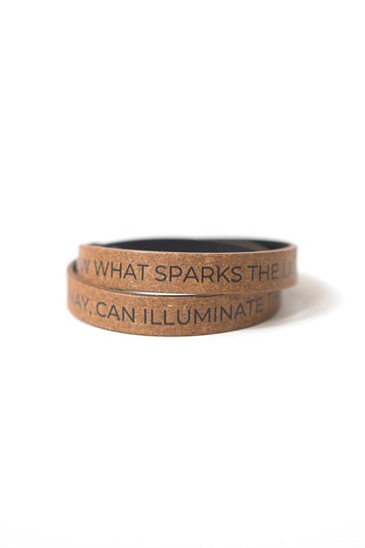 Illuminate the World Leather Wrap Bracelet
