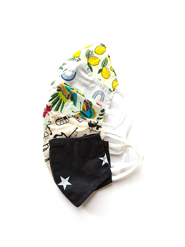 Kids Cotton Face Masks - 5 Pack